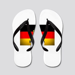 Deutschland Flag Coat of Arms Flip Flops